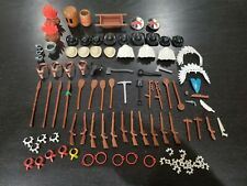 Lot Playmobil Western Accessories -VGC- Hats Guns Spears Shields Campfire Tools