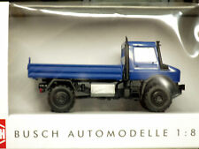 Busch 1/87 HO 2014 Mercedes Unimog U 5023 Heavy-Duty Low-Side BLUE (51002)