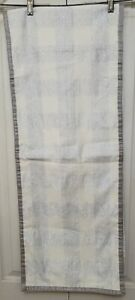 Silver Off White Metallic Table Runner 70 Inches stripes