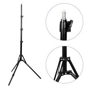 "2m Adjustable Light Stand 5/8"" Bushing Photo Studio Lighting Softbox Tripod 7FT"