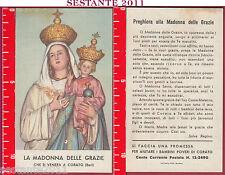 1810 SANTINO HOLY CARD MARIA VERGINA MADONNA DELLE GRAZIE CORATO BARI