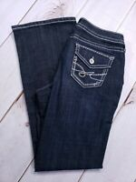 "Ana A New Approach Jeans Womens Size 12 Inseam 32"" Boot Cut Dark Wash Denim"
