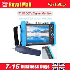 "7"" 4K CCTV IP Tester Monitor 8GB HDMI SDI CVBS Camera PTZ Test WIFI Onvif P6"