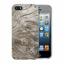 For Apple iPhone 5 5S SE (2016) Silicone Case Wood Image Print - S576