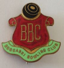 Boggabri Bowling Club Badge Rare Vintage (K10)