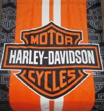 New Racing Stripe Harley Davidson Shield Motorcycle Bath Beach Towel Biker Gift