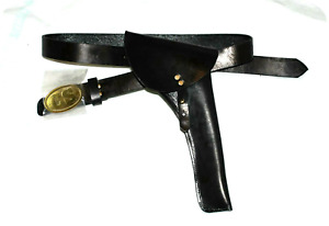 C.S Civil War Cavalry Leather CS Waist Belt With Leather Holster Right Hand Draw