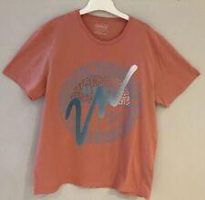 "Topman T-Shirt Size XL Peach Short Sleeve PtP 24"" Crew Neck"
