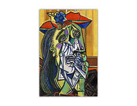 Weeping Woman By Pablo Picasso Poster Prints Wall Art Oil Painting Re-Print