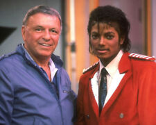 Michael Jackson and Frank Sinatra UNSIGNED photo - K9480 - In 1984