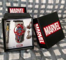 Marvel Thor: Ragnarok Avengers Tie Bar Money Clip Cufflinks 4pc Box Gift Set lot
