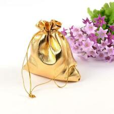 200pcs Organza Bag Golden Wedding Party Favour Gift Candy Bags Pouch Large Small