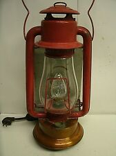 Antique Rayo No 82 Brass Bottom Dash Lantern for Buckboard - Electrified