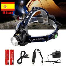 10000lm XM-L T6 LED Zoom Linterna Faro Cabeza Luz Frontal LÁMPARA 18650+USB Line