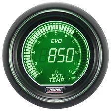 PROSPORT 52mm EVO Series Digital Green White Led Exhaust Gas Temperature Gauge C