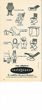 PUBLICITE ADVERTISING 024   1962   CASTEJOYEUX   mobilier jardin