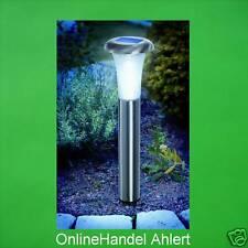 2 er Set LED Solarleuchte Solar Gartenleuchte Solarlampe Akku Edelstahl Leuchte
