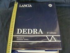 MANUALE ORIGINALE OFFICINA LANCIA DEDRA 1989 1.6 1.8 2.0 TD 1°SERIE 2°VOLUME DI2
