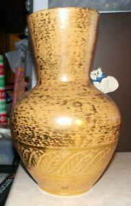 Vtg Stangl Vase Hand Painted Trenton Granada Gold Art Pottery #5023 22KT