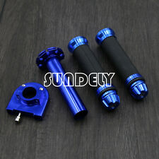 "7/8"" Blue Motorcycle Bar Ends Throttle Twist Tube Rubber Hand Grip for Suzuki"