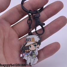 JOJO'S BIZARRE ADVENTURE Kujo Jotaro Keychain Key Ring Wood Pendant Otaku Gift