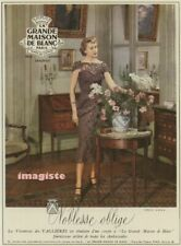 Original Vintage French Ad (1952): La Grande Maison De Blanc