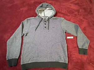 RVCA PULLOVER SWEATER - Size: S - SMALL - GRAY HOODIE