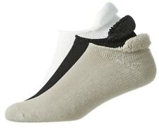 (3) PAIR NEW FootJoy Mens ComfortSof Roll Top Golf Socks, WHITE/BLACK/DRIFTWOOD