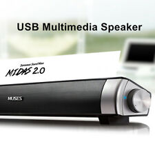 MIDAS-2.0 USB Stereo Powered Desktop Sound Bar Speaker For Computer PC Laptop