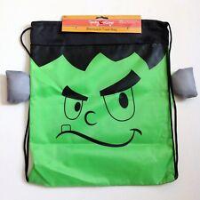 Halloween Spooky Village Backpack Treat Bag Frankenstein Design - Lot of 2, NEW