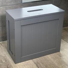 Dylex Crisp Grey Finish Bathroom Storage Box Toilet Cleaning Tidy Storage Unit