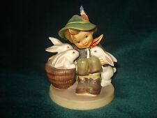 "Vintg Hummel Boy & Easter Bunnies Playmates Figurine W.Germany 58/0 3.75""-TMK3"