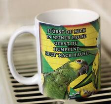 Papagei - Amazone - Vögel -Keramiktasse-Kaffeetasse  Neu - Funtasse