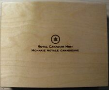 2013 Proof $10 O Canada set 12 coin Wood Display Box Case Chest no coins