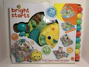 Bright Starts 5-in-1 Your Way Ball Play Activity Gym & Ball Pit - Neutral Age...