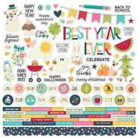 "Best Year Ever Cardstock Stickers 12""X12"" Combo 811958038317"