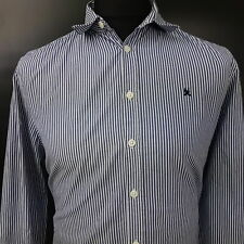 Gaastra Mens Shirt Nautical MEDIUM Long Sleeve Blue Regular Fit Striped Cotton