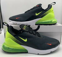 Nike Air Max 270 Black Volt Green Men's Sneakers Running Shoes AQ9164-005