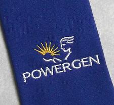 PowerGen Corbata Retro Vintage Azul Publicidad Corporativa patrocinador de los años noventa