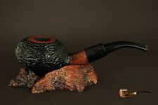 HAND MADE WOODEN SMOKING PIPE for TOBACCO  PEAR  no 69 Rustic Brown + Filter