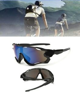 Aviator UV400 Sun Classes Ski Cycling Golf Bike Driving Mirror Anti Glare Blue