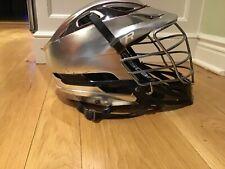 Cascade R Lacrosse Helmet St Joseph's University Platinum with Chrome face mask