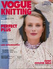 VOGUE KNITTING Spring Summer 1995 Mother Daughter Sweaters Lace Garden Motifs