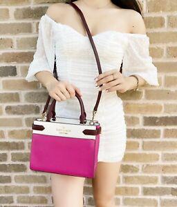 Kate Spade Staci Colorblock Small Leather Satchel Pink Multi Colorblock