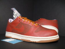 2005 NIKE DUNK LOW 1 PIECE LASER ONE IK RED TITAN PURPLE DESERT CLAY BROWN DS 12