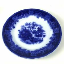 """Flow Blue Dinner Plate - Shanghai 9.75"""""""