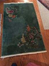 ~3' X 5' Vintage Hand Made Art Deco Chinese Wool Rug Beautiful Colors
