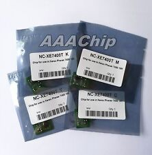 4 x Toner Chips For Xero Phaser 7400 7400DN 7400DX 7400N 106R01077 ~ 106R01080