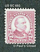 Us Cleveland 12¢ Brown Violet Sc 693 Mnh Og P11X10½ Rotary Press 1931 Very Fine