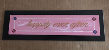 HAPPILY EVER AFTER inspirational pink wedding anniversary gift decor wood sign